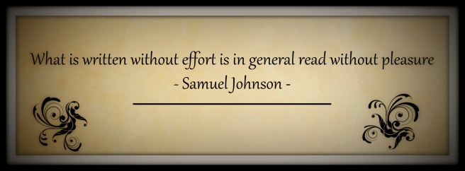Samuel Johnson on writing