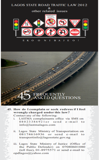 lagos state traffic laws