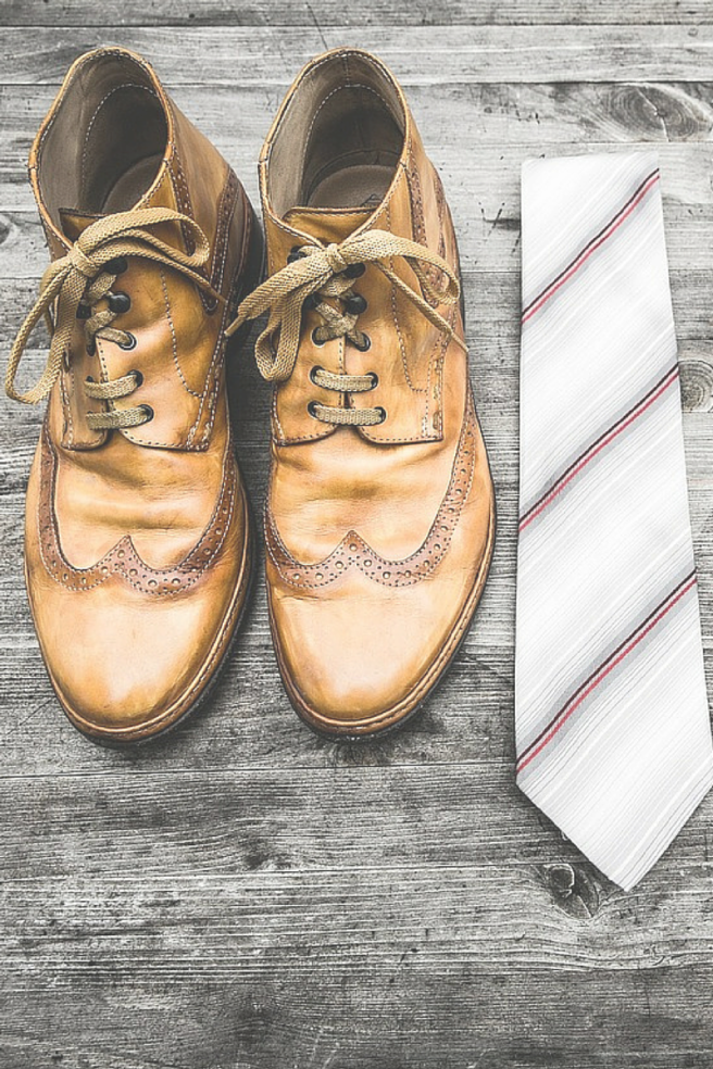 shoes & tie